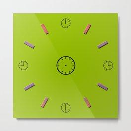 Wall Clock Metal Print
