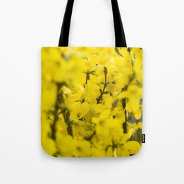 Yellow spring blooming Tote Bag