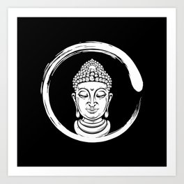 Zen Circle Buddha Art Print