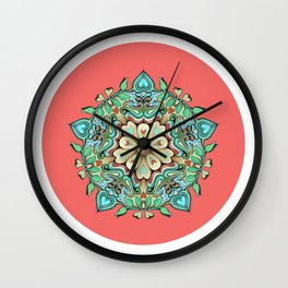 Happy pattern Wall Clock