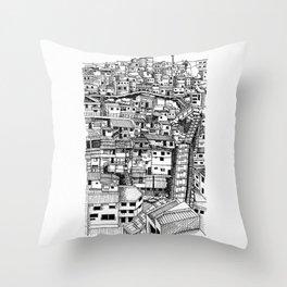 Urban sketch street scene 2 Throw Pillow