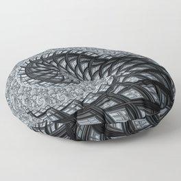 The Daily News - Fractal Art Floor Pillow