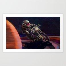 cosmic cafe racer Art Print