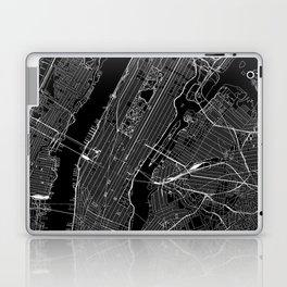 New York City Black Map Laptop & iPad Skin
