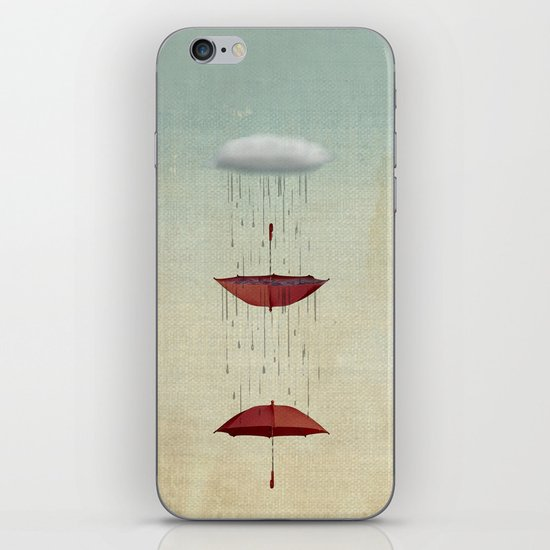 the umbrella runneth over and over iPhone & iPod Skin