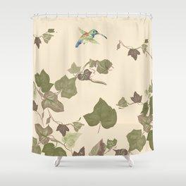 Ivy & hummingbird Shower Curtain