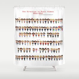 One Direction in Music Videos 2011-2014 Shower Curtain