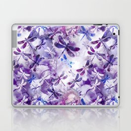 Dragonfly Lullaby in Pantone Ultraviolet Purple Laptop & iPad Skin