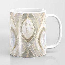 White Quartz & Gold Elegant Pattern Coffee Mug