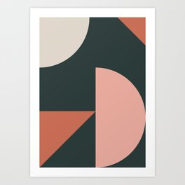 Orbit 04 Modern Geometric Art Print