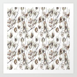 Cotton Boll Art Print