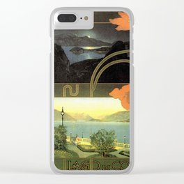 Vintage poster - Lago di Como Clear iPhone Case