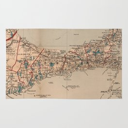 Vintage Map of Cape Cod MA (1905) Rug