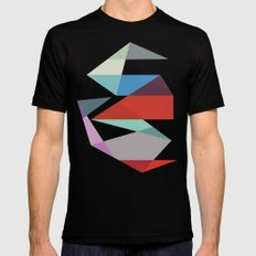 Shapes 015 LARGE Black Mens Fitted Tee