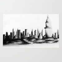 istanbul Area & Throw Rugs featuring İstanbul. by cidem