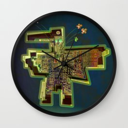 Good Vibes from the Robotic City Lab Wall Clock
