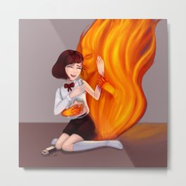 The fire Metal Print
