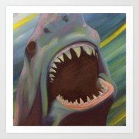 Jaws 1 Art Print