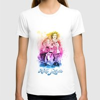 river song T-shirts featuring River Song Watercolor Mixed Media Digital Painting by Purshue