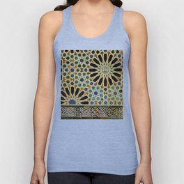 """Mexuar room"". Details in The Alhambra Palace.  Unisex Tank Top"