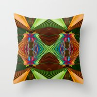 beaver Throw Pillows featuring Beaver Traps by Tami Cudahy