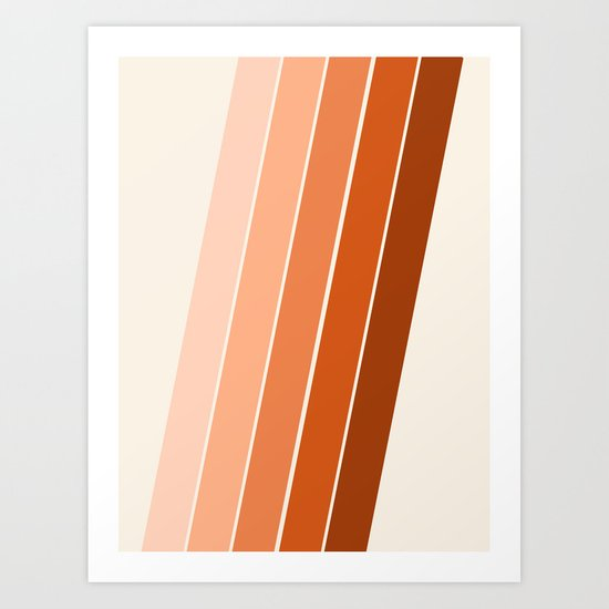 The Skinney - 70's abstract minimal stripe striped pattern retro throwback 1970s art decor Art Print