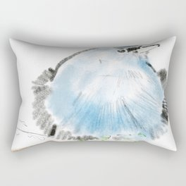Illustration of blue bird Rectangular Pillow