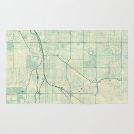 Tucson Map Blue Vintage Rug