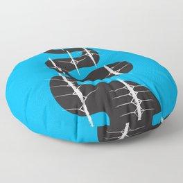 Rowing River Blue Floor Pillow