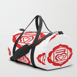 "RED SANSKRIT CHAKRA PSYCHIC WHEEL ""GROUND"" Duffle Bag"