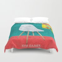 eames Duvet Covers featuring Eames Chair  by Xchange Art Studio
