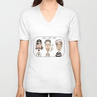 men V-neck T-shirts featuring Men by t i t i l l a