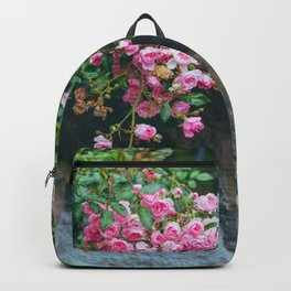 wall of roses Backpack
