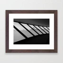 MAC Interior View | Architect Oscar Niemeyer | Niterói-Brazil Framed Art Print