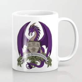 Clan Stonefire Crest - Purple Dragon Coffee Mug