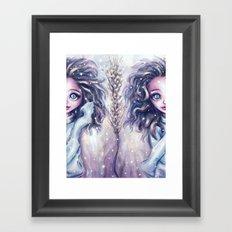 Winter Twins Framed Art Print
