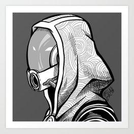 Tali - B&W profile Art Print
