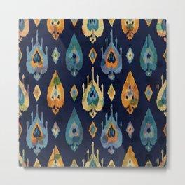 Colorful geometric boho pattern Metal Print