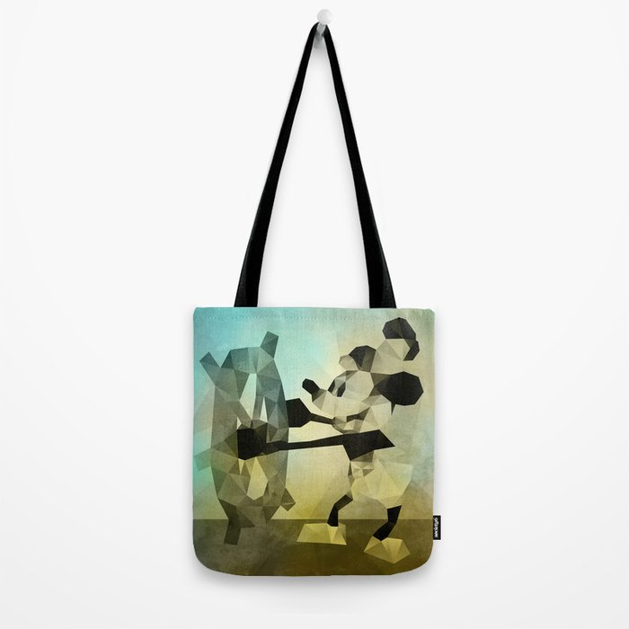 Mickey Mouse as Steamboat Willie Tote Bag