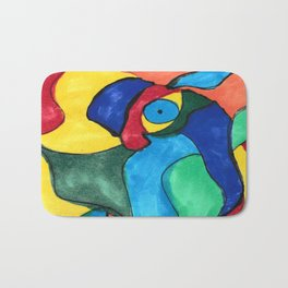 Stained Glass Eye Bath Mat