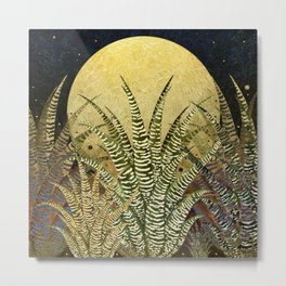 """Golden aloe Zebra midnight sun"" Metal Print"