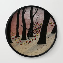 Leaf On The Wind Wall Clock