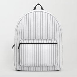 Gray ticking stripes Backpack