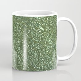 Silver green metal Coffee Mug