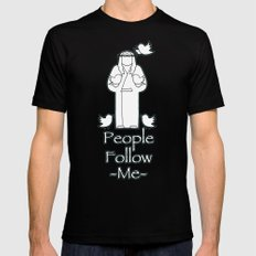 People Follow Me MEDIUM Mens Fitted Tee Black