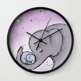 Goodnight Elephants Wall Clock