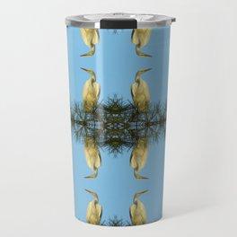White Egret Travel Mug