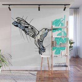 Hummingbird geometric Wall Mural