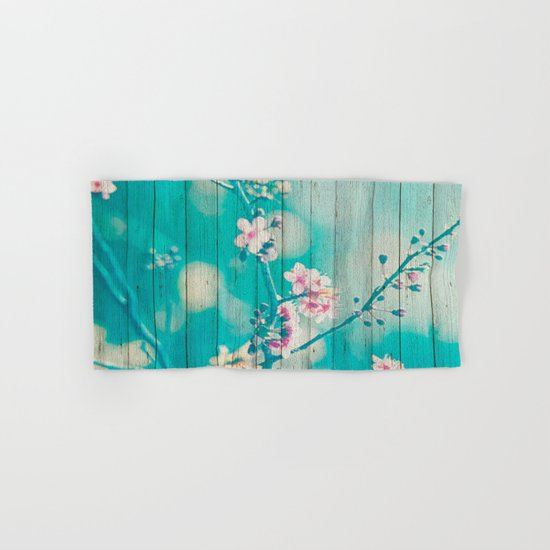 Sweet Flowers on Wood 01 Hand & Bath Towel