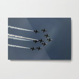 The Red Arrows flying in formation Metal Print